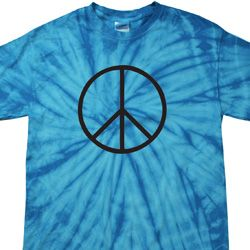 Basic Black Peace Spider Tie Dye Shirt