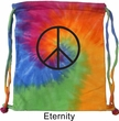Basic Black Peace Tie Dye Bag
