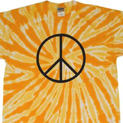 Basic Black Peace Twist Tie Dye Shirt