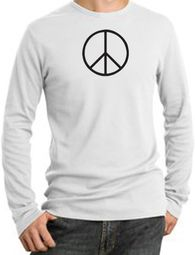 Basic Peace Long Sleeve Thermal T-shirts