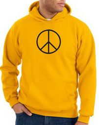 Basic Peace Pullover Hooded Sweatshirts