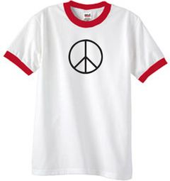 Basic Peace Ringer T-shirts