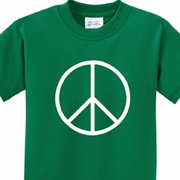 Basic Peace White Kids Shirts