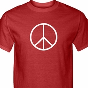 Basic Peace White Mens Shirts
