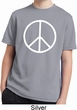 Basic White Peace Kids Moisture Wicking Shirt