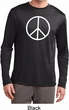 Basic White Peace Mens Dry Wicking Long Sleeve Shirt