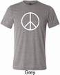 Basic White Peace Mens Tri Blend Crewneck Shirt