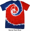 Basic White Peace Patriotic Tie Dye Shirt