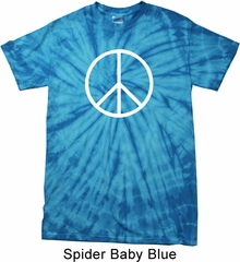 Basic White Peace Spider Tie Dye Shirt