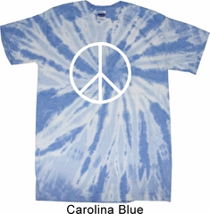 Basic White Peace Twist Tie Dye Shirt