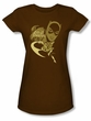 Batgirl Juniors T-shirt - DC Comics Flying Batgirl Brown
