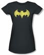 Batgirl Juniors T-shirt - Logo Distressed DC Comics Charcoal Tee