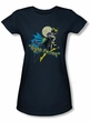 Batgirl Juniors T-shirt - Night Person DC Comics Navy Blue Tee