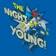 Batgirl T-shirt – The Night Is Young DC Comics Adult Royal Blue Tee