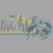 Batman And Robin Juniors T-shirt - Gotham Retro DC Comics Silver