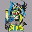 Batman And Robin Juniors T-shirt Heroic Trio Athletic Heather Tee