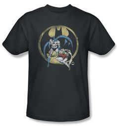Batman And Robin Kids T-shirt  - Team DC Comics Charcoal Youth