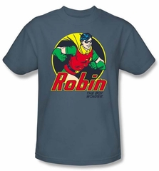 Batman And Robin Kids T-shirt  - The Boy Wonder DC Comics Slate Youth