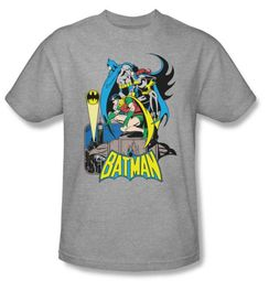 Batman And Robin T-shirt Heroic Trio DC Comics Adult Athletic Heather
