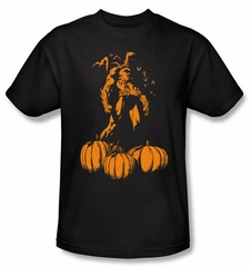 Batman Kids T-Shirt - A Bat Among Pumpkins Youth Black Tee
