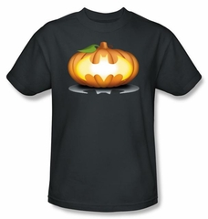 Batman Kids T-Shirt - Bat Pumpkin Logo Youth Charcoal Tee