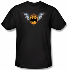 Batman Kids T-Shirt - Bat Wings Logo Youth Black Tee