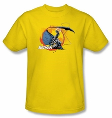 Batman Kids T-Shirt - Batarang Shot Youth Yellow Tee