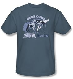 Batman Kids T-Shirt - Batman and Robin Youth Slate Blue Tee