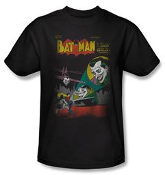 Batman Kids T-Shirt - Batman vs. Joker Wrong Signal Youth Black Tee
