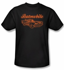 Batman Kids T-Shirt - Batmobile Youth Black Tee