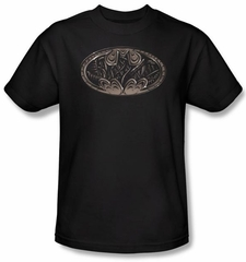 Batman Kids T-Shirt - Bio Mech Bat Shield Youth Black Tee