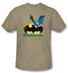 Batman Kids T-Shirt - Caped Crusaders Youth Khaki Tee