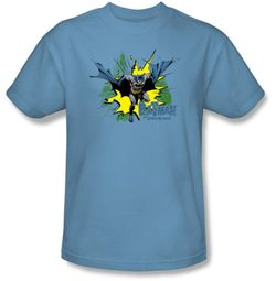 Batman Kids T-Shirt - City Splash Youth Carolina Blue Tee