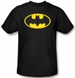 Batman Kids T-Shirt - Classic Logo Youth Black Tee