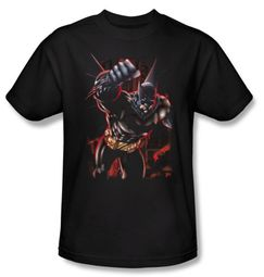 Batman Kids T-Shirt - Crimson Knight Youth Charcoal Tee
