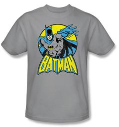 Batman Kids T-Shirt - DC Comics Superhero Youth Gray Tee