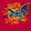 Batman Kids T-Shirt - Don't Scare Me Youth Red Tee