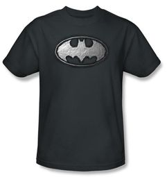 Batman Kids T-Shirt - Duct Tape Logo Youth Charcoal Gray Tee