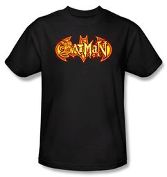 Batman Kids T-Shirt - Fiery Shield Youth Black Tee