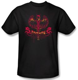 Batman Kids T-Shirt - Heart Of Fire Nocturn Youth Black Tee