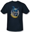 Batman Kids T-Shirt - In The Crosshairs Youth Navy Tee