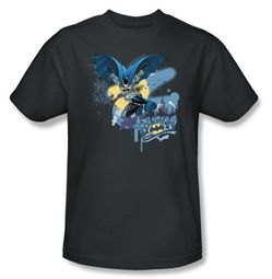 Batman Kids T-Shirt - In To Night Youth Charcoal Tee
