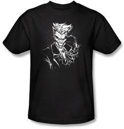 Batman Kids T-Shirt - Joker's Splatter Smile Youth Black Tee