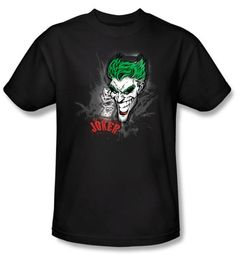Batman Kids T-Shirt - Joker Sprays The City Youth Black Tee