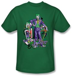 Batman Kids T-Shirt - Joker Wild Cards Youth Kelly Green Tee