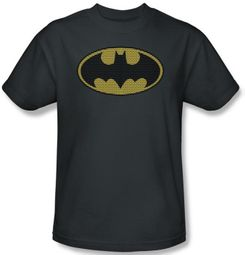 Batman Kids T-Shirt - Little Logos Youth Charcoal Tee