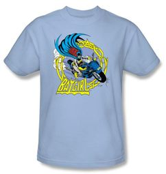 Batman Kids T-Shirt - Motorcycle Bat Girl Youth Blue Tee