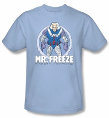 Batman Kids T-Shirt - Mr Freeze Supervillian Youth Light Blue Tee
