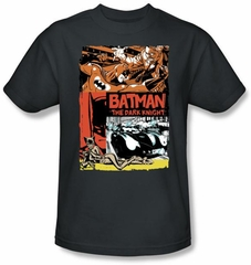 Batman Kids T-Shirt - Old Movie Poster Youth Gray Tee