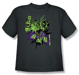 Batman Kids T-Shirt - Smell My Flower Youth Charcoal Tee